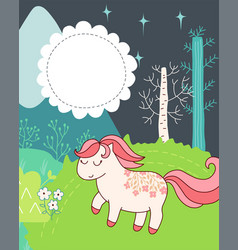 Doodles cute card vector