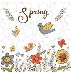 Elegant spring post card vector