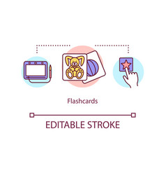 flashcards concept icon vector image