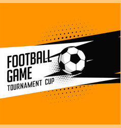 Football soccer tournament game background vector