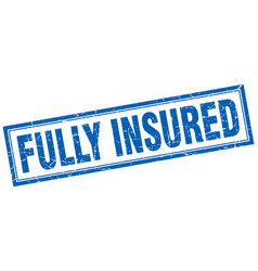 Fully insured square stamp vector