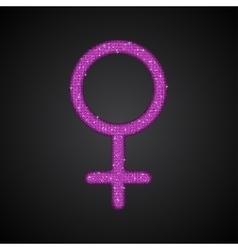 Gender women pink sequins flat vector