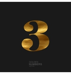 Golden number 3 vector