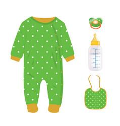 green baby boy set vector image