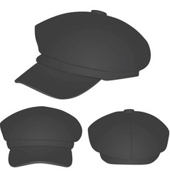 Grey winter cap vector