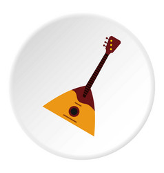 Guitar triangle icon circle vector