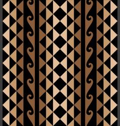 Hawaiian tribal decorative tattoo seamless pattern vector