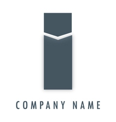 I grey logo vector image