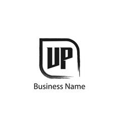 initial letter vp logo template design vector image