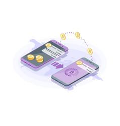 international money transfer vector image