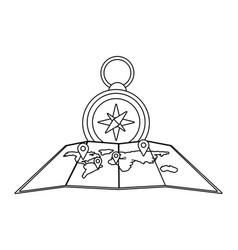 isolated compass design vector image