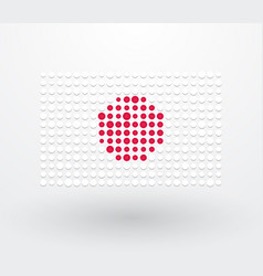 japan flag made up of dots vector image