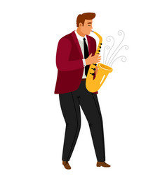 jazz music saxophonist player vector image