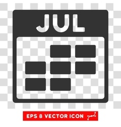 July Calendar Grid Eps Icon vector