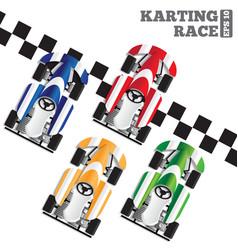 karting race vector image
