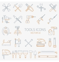 Line working color tools for construction vector