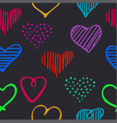 Love seamless pattern with romantic unique doodle vector