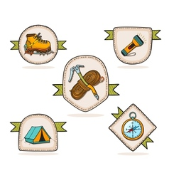 Mountain hiking vector image