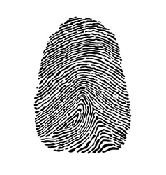 People fingerprint vector image