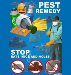 Pest remedy rodents extermination deratization vector
