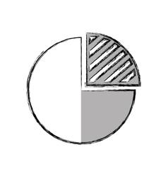 Pie infographic isolated icon vector