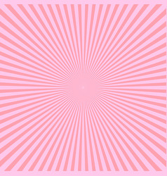 pink rays of light in radial arrangement sunshine vector image