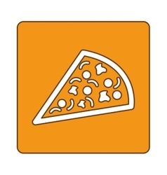 pizza fast food emblem icon vector image