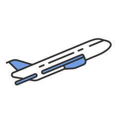 plane flying up color icon vector image