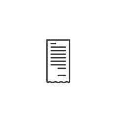 receipt billing icon vector image