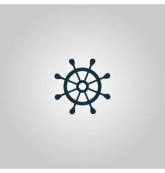 rudder web flat icon vector image