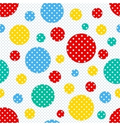 Seamless geometric polka dot pattern vector image