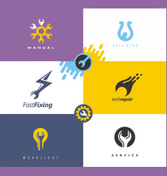 Service and repair logo desig logo design concepts vector