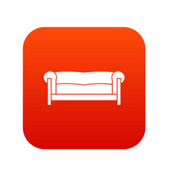 sofa icon digital red vector image