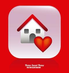 sweet home design vector image
