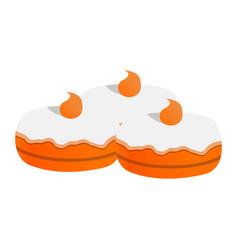 sweet jewish bakery icon cartoon style vector image