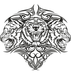 Tiger with patterns vector