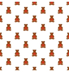 Toy bear pattern cartoon style vector image