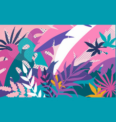 tropical abstract background bright colorful vector image