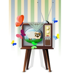 Tv with Lamb vector image