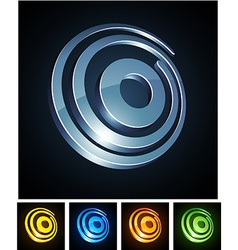 Vibrant 3d o letter vector image