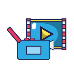 Video camera recorder with play video vector