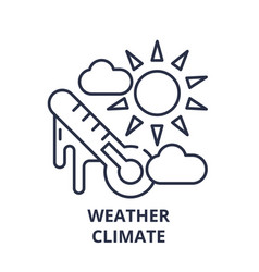 weather climate line icon concept weather climate vector image