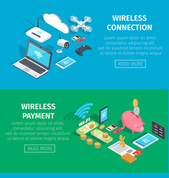 wireless connection and payment information page vector image