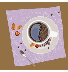 with the image of a cup of coffee vector image