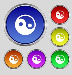 Ying yang icon sign Round symbol on bright vector