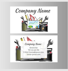 auto repair business card template vector image