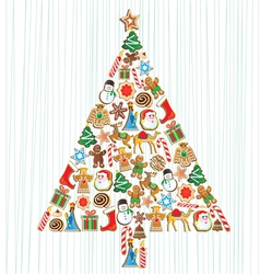 cookie christmas tree vector image