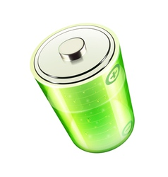 green battery icon vector image vector image
