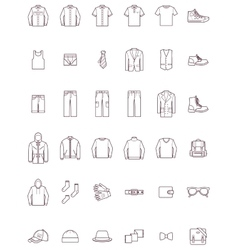 Men clothes set vector image vector image