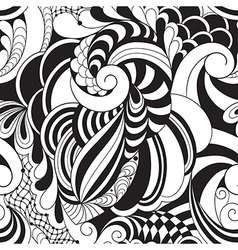Monochrome Floral Pattern vector image vector image